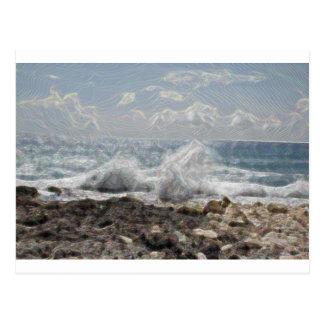 Carte Postale Corail et vagues