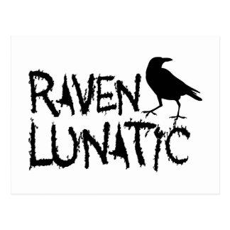 Carte Postale Corneille noire folle de Raven