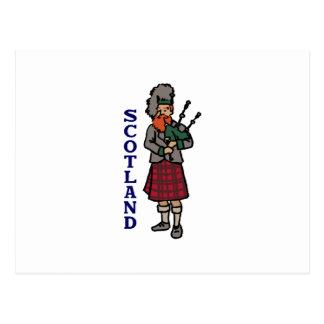 Carte Postale Cornemuses de l'Ecosse