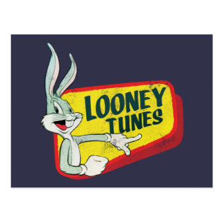 Carte Postale Correction LOONEY du ™ TUNES™ de BUGS BUNNY rétro