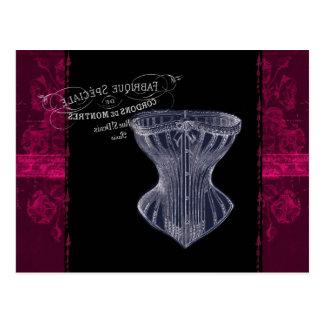 Carte Postale corset gothique vintage moderne de Français de