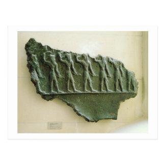 Carte Postale Cortège des guerriers d'Elamite, Susa, Iran,