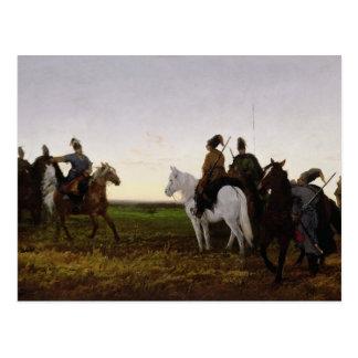 Carte Postale Cosaques à cheval, 1874 (huile sur la toile)