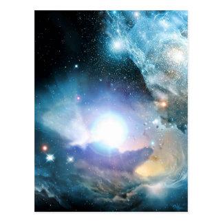 Carte Postale Cosmos bleu d'univers