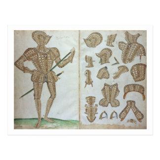 Carte Postale Costume d'armure pour monsieur Henry Lee, 'd'un