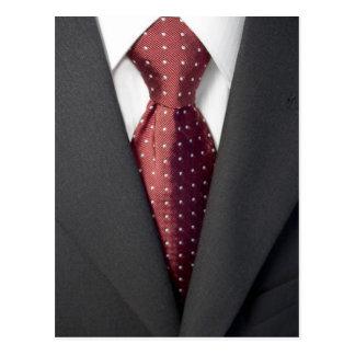 Carte Postale Costume et cravate