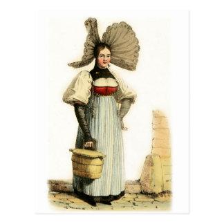 Carte Postale Costume suisse traditionnel de Berne