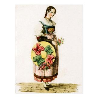 Carte Postale Costume suisse traditionnel du canton de la