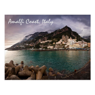 Carte Postale Côte de charme d'Amalfi, ville de bord de la mer