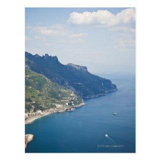 Carte Postale Côte de l'Italie, Amalfi, vue courbe sur la ville
