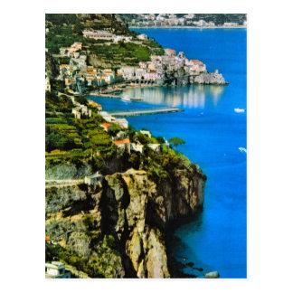 Carte Postale Côte de l'Italie vintage, Amalfi