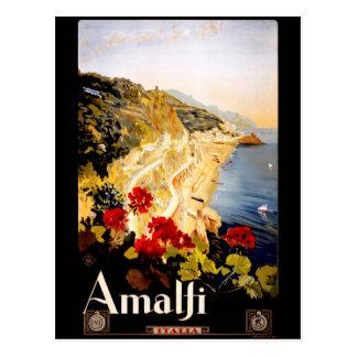 Carte Postale Côte vintage d'Amalfi Italie de voyage