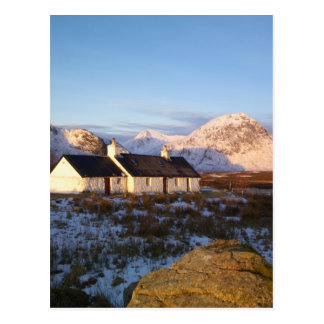 Carte Postale Cottage de Blackrock, Glencoe, montagnes, Ecosse