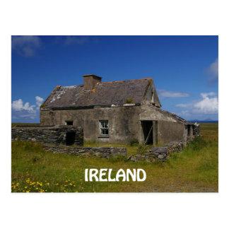 Carte Postale Cottage irlandais abandonné