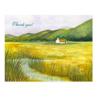 """Carte Postale """"Cottage Merci sur marais"""" !"""