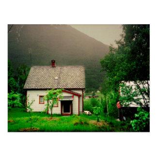Carte Postale Cottage norvégien étrange