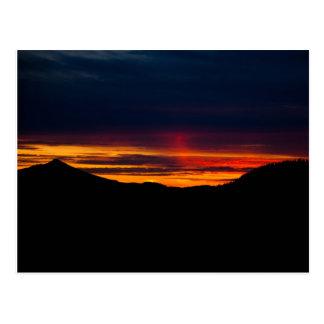 Carte Postale Coucher du soleil 04 de côte de l'Orégon