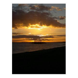 Carte Postale Coucher du soleil à la plage de Brighton