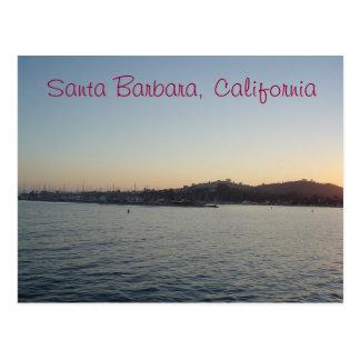 Carte Postale Coucher du soleil à Santa Barbara