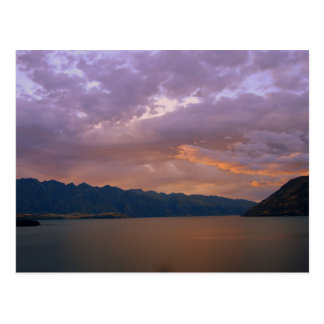 Carte Postale Coucher du soleil au lac Wakatipu, Queenstown, NZ
