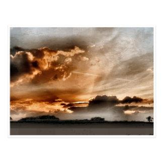Carte Postale Coucher du soleil caché de gloire
