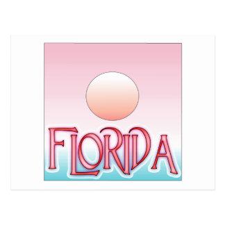 Carte Postale Coucher du soleil d'aerographe de la Floride