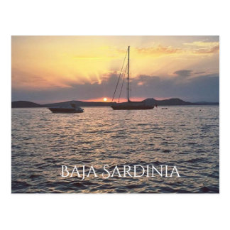 Carte Postale Coucher du soleil dans Baja Sardaigne