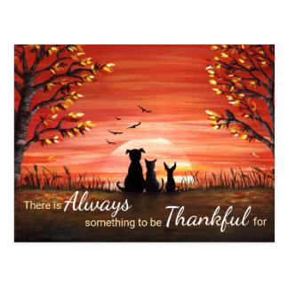 Carte Postale Coucher du soleil d'automne toujours reconnaissant