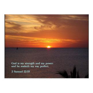 Carte Postale Coucher du soleil de 22h33 de 2 Samuel