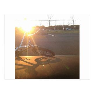 Carte Postale Coucher du soleil de BMX