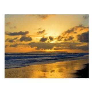 Carte Postale Coucher du soleil de Kauai avec Niihau sur