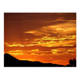 Carte Postale Coucher du soleil de l'Arizona
