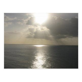 Carte Postale Coucher du soleil de lever de soleil