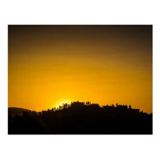 Carte Postale Coucher du soleil de montagne rocheuse