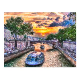Carte Postale Coucher du soleil de Paris
