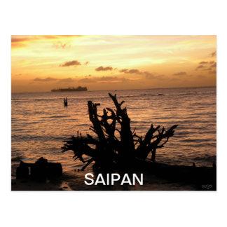 Carte Postale COUCHER DU SOLEIL de sSAIPAN