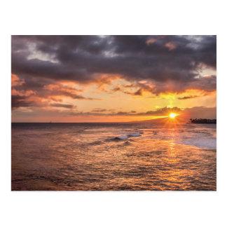 Carte Postale Coucher du soleil de Waikiki