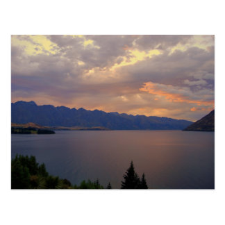 Carte Postale Coucher du soleil de Wakatipu de lac, Queenstown,