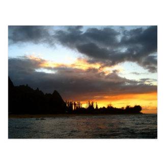 Carte Postale Coucher du soleil d'île