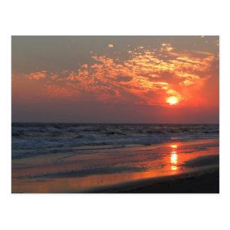 Carte Postale Coucher du soleil d'océan - île de chêne, OR