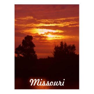 Carte Postale Coucher du soleil du Missouri