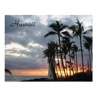Carte Postale Coucher du soleil en Hawaï