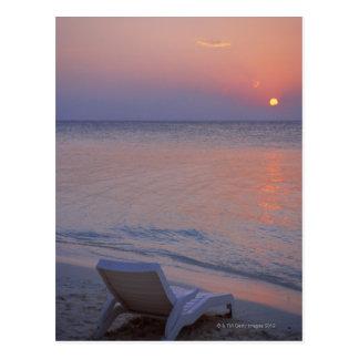 Carte Postale Coucher du soleil et mer
