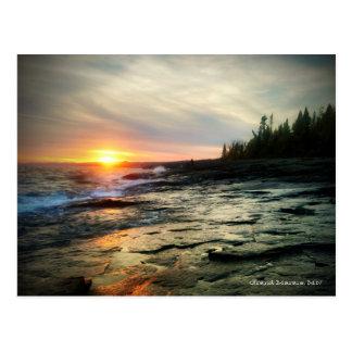 Carte Postale Coucher du soleil grand 1 de Marais