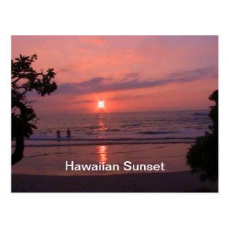Carte Postale Coucher du soleil hawaïen
