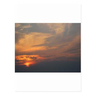 Carte Postale Coucher du soleil orange et jaune
