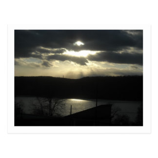 Carte Postale Coucher du soleil par le Hudson