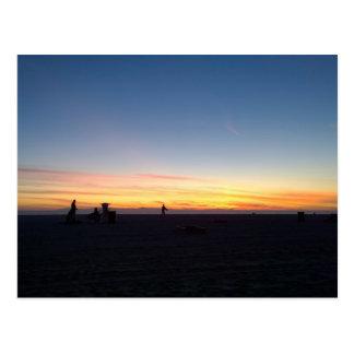 Carte Postale Coucher du soleil parfait en Huntington Beach, la