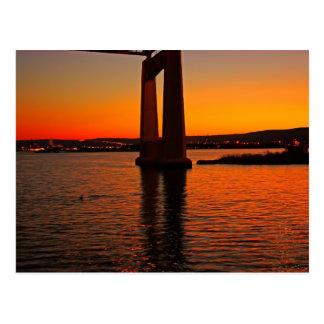 Carte Postale Coucher du soleil sur la baie