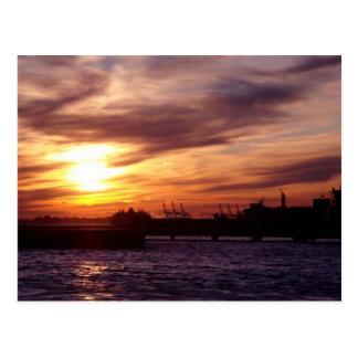 Carte Postale Coucher du soleil sur le Hudson